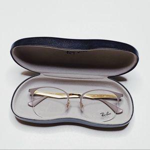NEW 🔥 RAYBAN  Eyewear CLEAR & GOLD Unisex 👓
